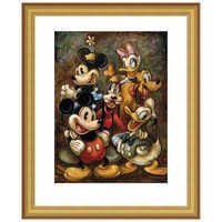 Image of ''Mickey Mouse and Friends'' Giclée by Darren Wilson # 4
