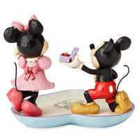Image of Mickey and Minnie Mouse Figure with Tray by Jim Shore # 2