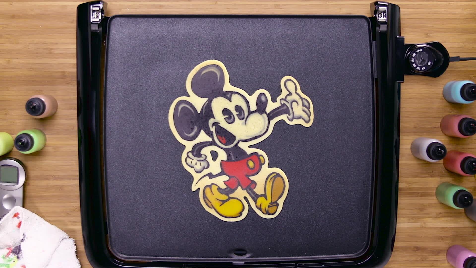 Dancakes Pancake Art - Mickey Mouse