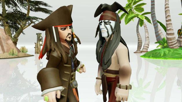 Capt. Jack Sparrow Meets Tonto - Toy Box Trailer