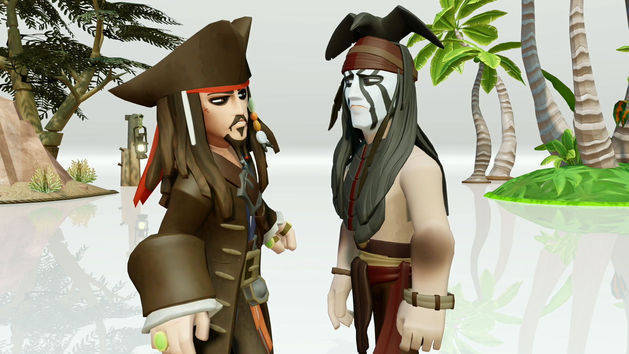 Capt. Jack Sparrow Meets Tonto - Toy Box Trailer