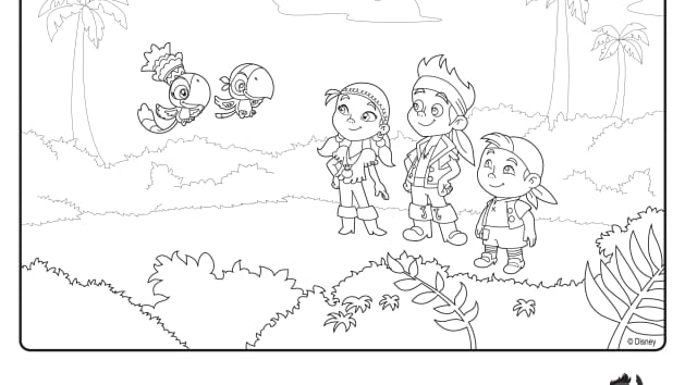 Skully From Jake And The Never Land Pirates Coloring Pages Jake And The Neverland Coloring Pages To Print