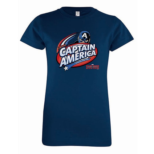 Captain America: Civil War Logo Tee for Girls - Customizable
