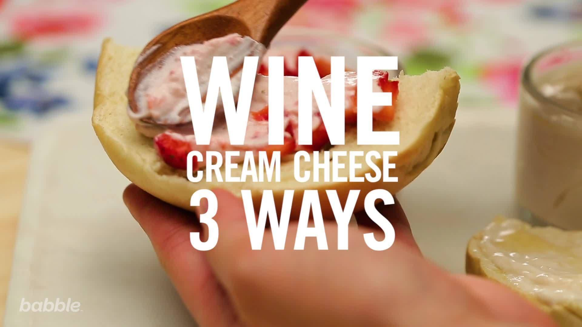 Wine Cream Cheese 3 Ways | Babble Eats
