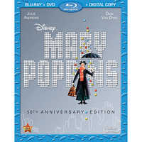 Image of Mary Poppins 50th Anniversary Edition 2-Disc Blu-ray # 1