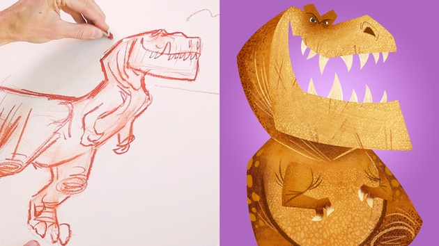 How to Draw Butch from Good Dinosaur | Disney Insider