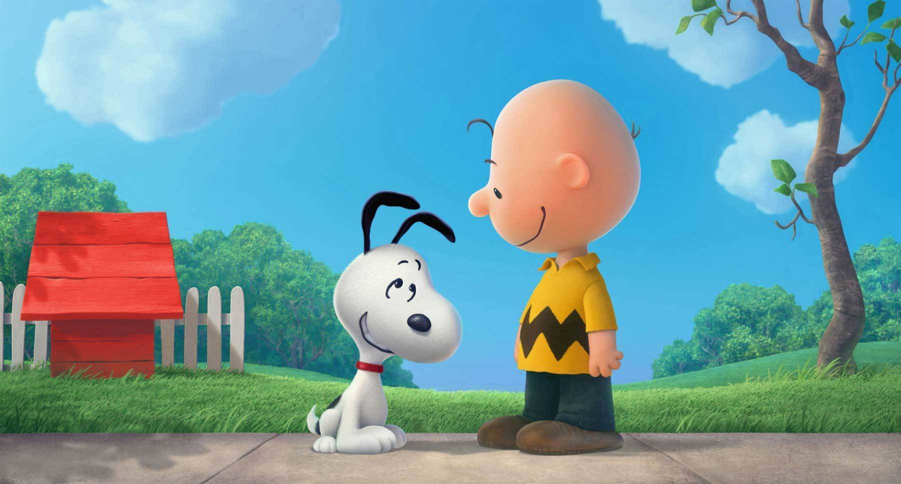 "Snoopy (voiced by Bill Melendez) and Charlie Brown (voiced by Noah Schnapp) in ""The Peanuts Movie"""