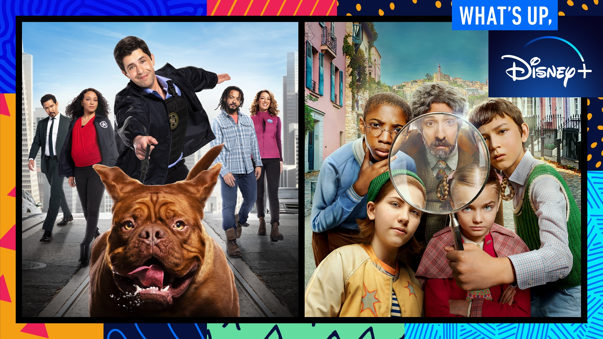 Games With the Cast of Turner & Hooch and the Music of Monsters at Work | What's Up, Disney+