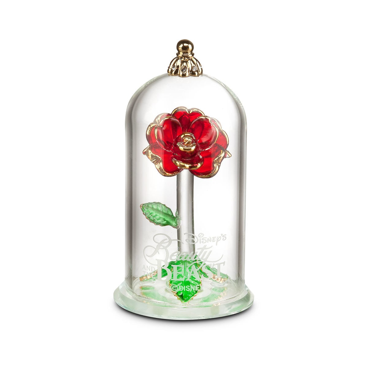 Beauty And The Beast Enchanted Rose Glass Sculpture By Arribas
