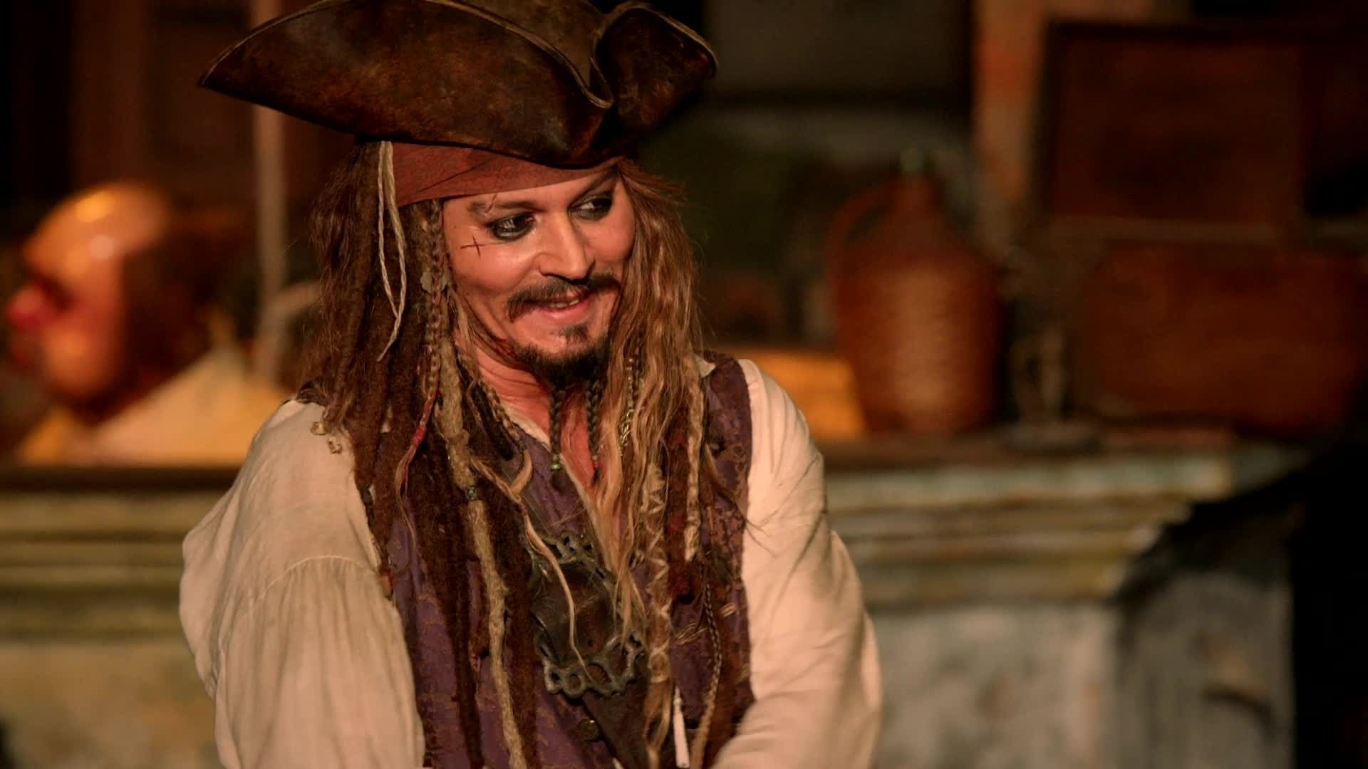 Johnny Depp Surprises Fans At Disneyland