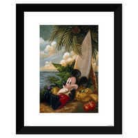 Image of Mickey Mouse and Pluto ''Sundown Surfer Mickey Mouse'' Giclée by Darren Wilson # 2