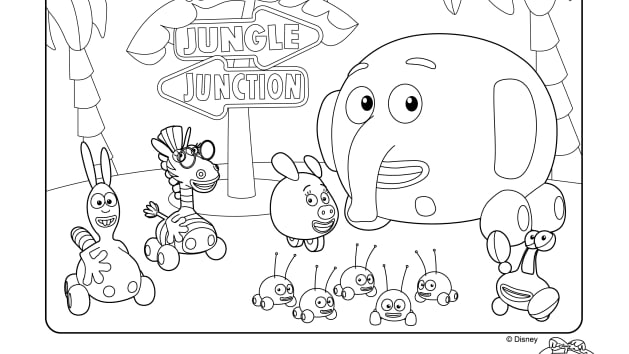 Jungle Junction Printable Coloring