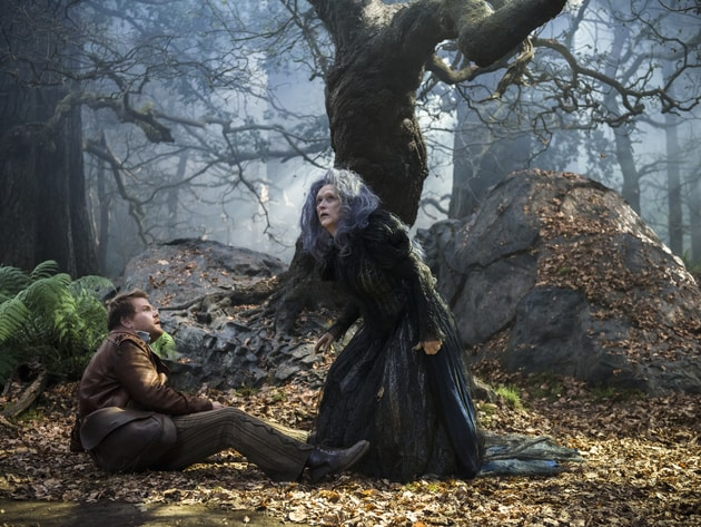 "James Corden and Meryl Streep star in ""Into the Woods,"" a modern twist on beloved fairy tales tha..."