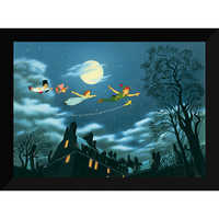 Image of Peter Pan ''And Away They Flew to Never Land'' Giclé # 6
