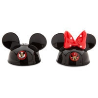 Mickey and Minnie Mouse Ear Hat Salt and Pepper Set