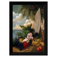 Image of Mickey Mouse and Pluto ''Sundown Surfer Mickey Mouse'' Giclée by Darren Wilson # 6