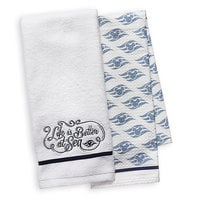 Disney Cruise Line ''Life is Better at Sea'' Kitchen Towel Set