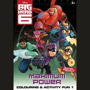 Big Hero 6 Colouring Activity Fun 1