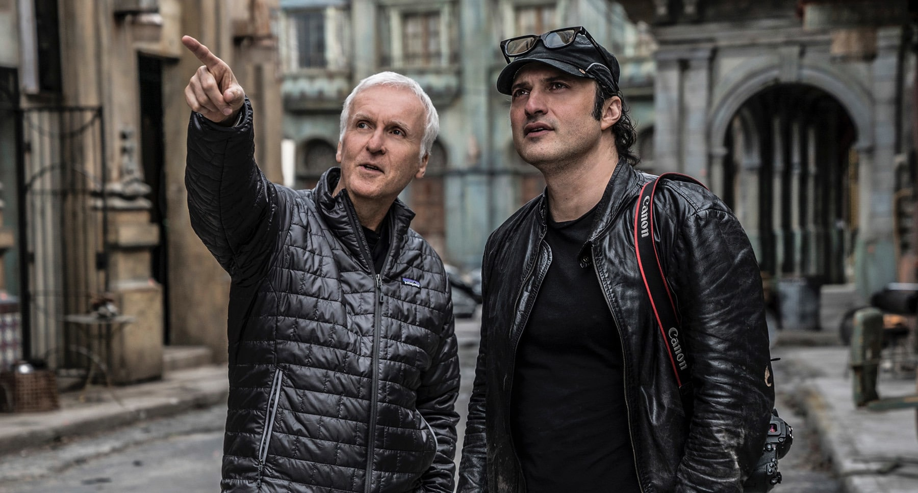 James Cameron and Robert Rodriguez from the movie Alita: Battle Angel
