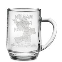 Sorcerer Mickey Mouse Glass Mug by Arribas - Personalizable