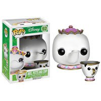 Mrs. Potts and Chip Pop! Vinyl Figure Set by Funko