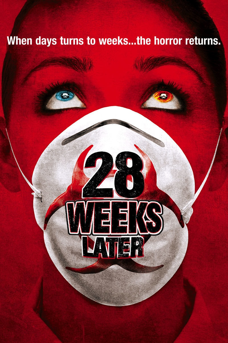 28 Weeks Later movie poster: When days turns to weeks... the horror returns.