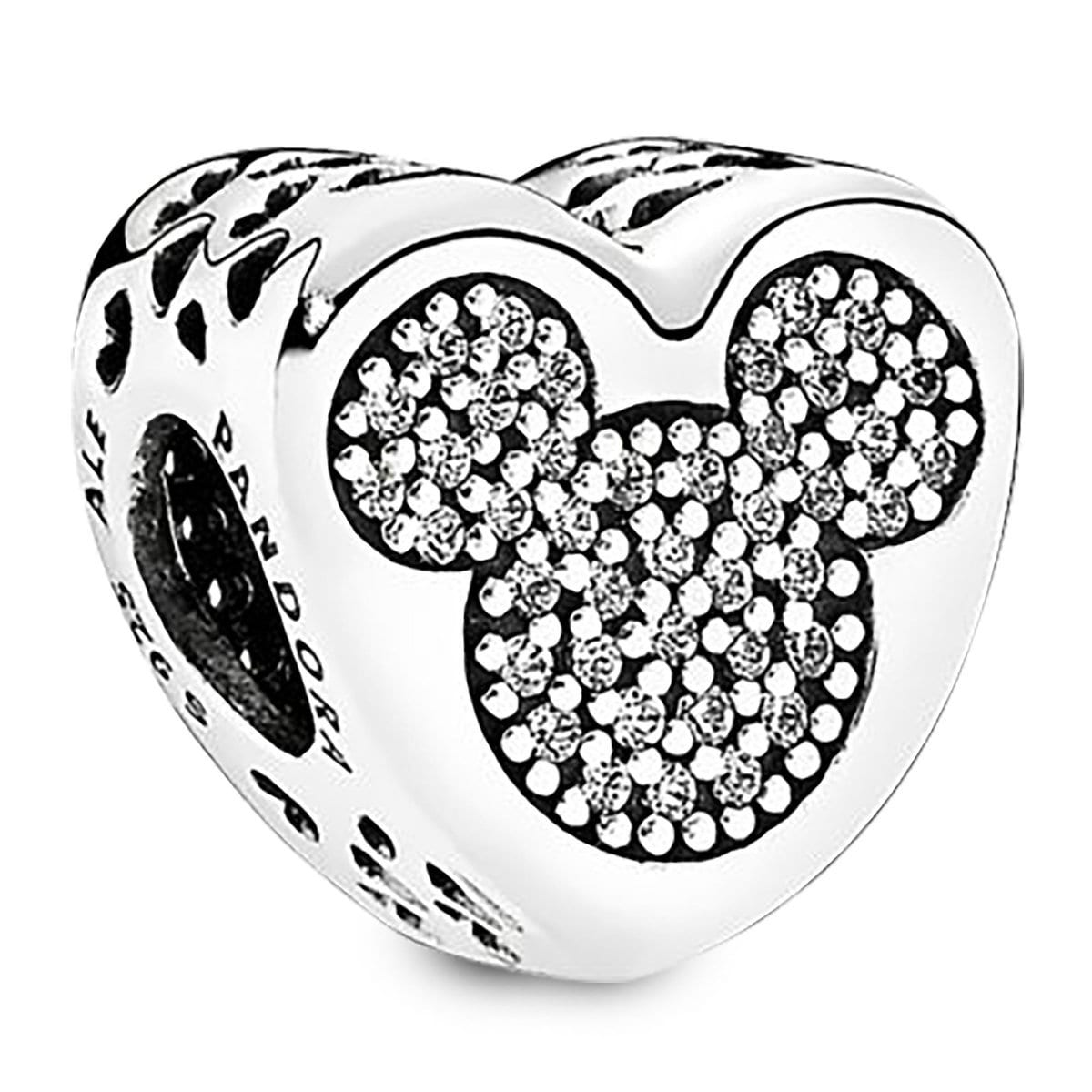 31103e1d5 Product Image of Mickey and Minnie Mouse Icon Heart Charm by Pandora  Jewelry # 1