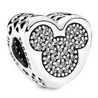 Image of Mickey and Minnie Mouse Icon Heart Charm by PANDORA # 1