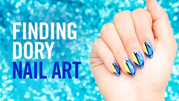 Finding dory nail art disney video video thumbnail for finding dory nail art prinsesfo Image collections