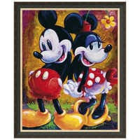 Image of Mickey Mouse and Minnie ''Two Hearts'' Giclée by Darren Wilson # 7