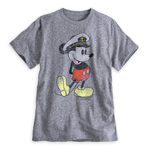 Captain Mickey Mouse Tee For Men Disney Cruise Line