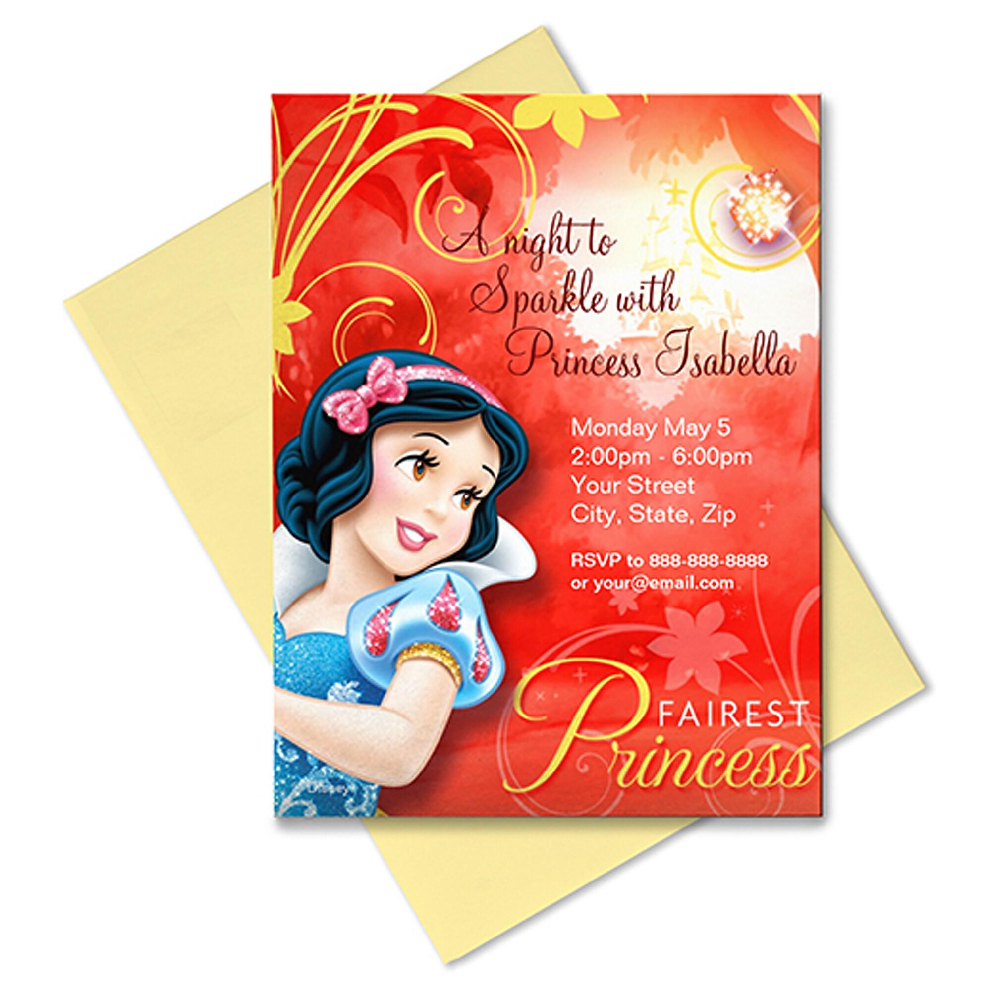 Snow White Invitation - Customizable