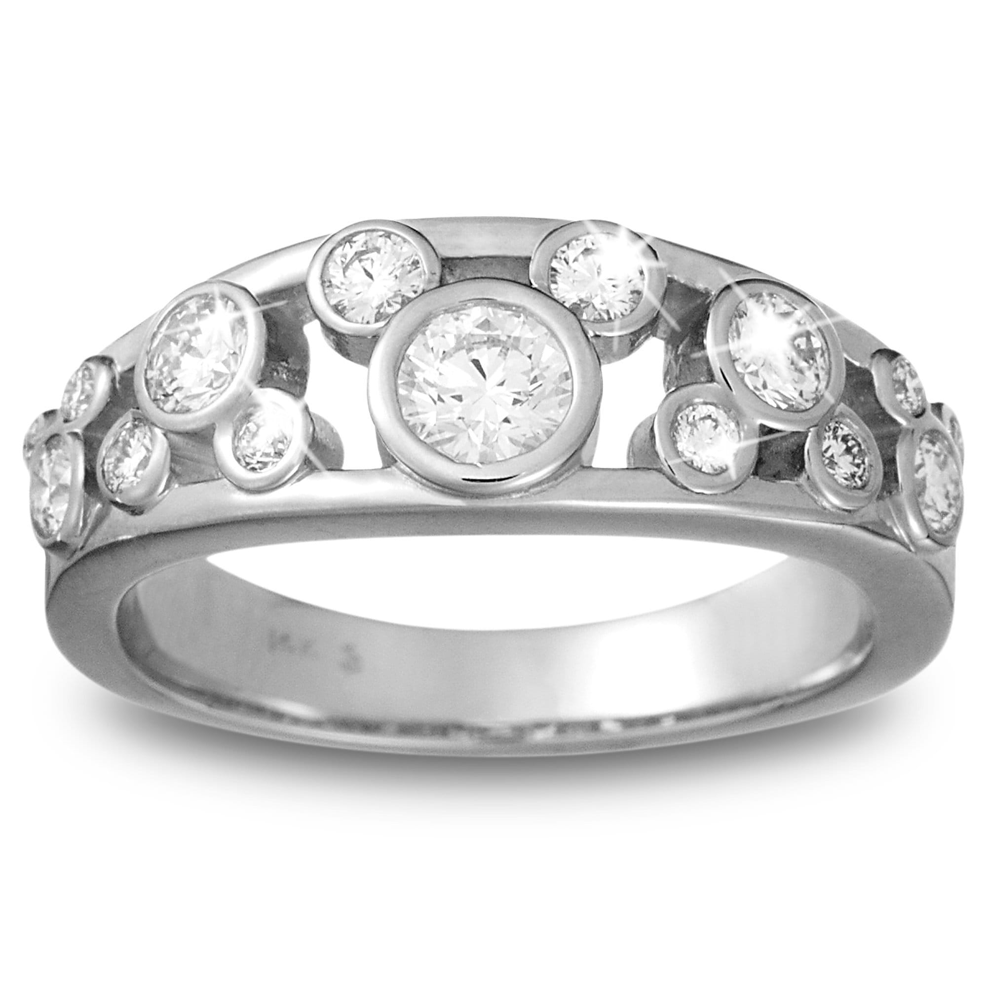 Mickey Mouse Diamond Ring for Women Platinum