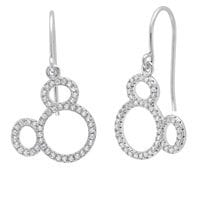 Image of Mickey Mouse Icon Silhouette Earrings by CRISLU - Platinum # 1