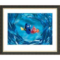 Image of Finding Nemo ''The Moonfish entertain Marlin and Dory'' Giclé # 2