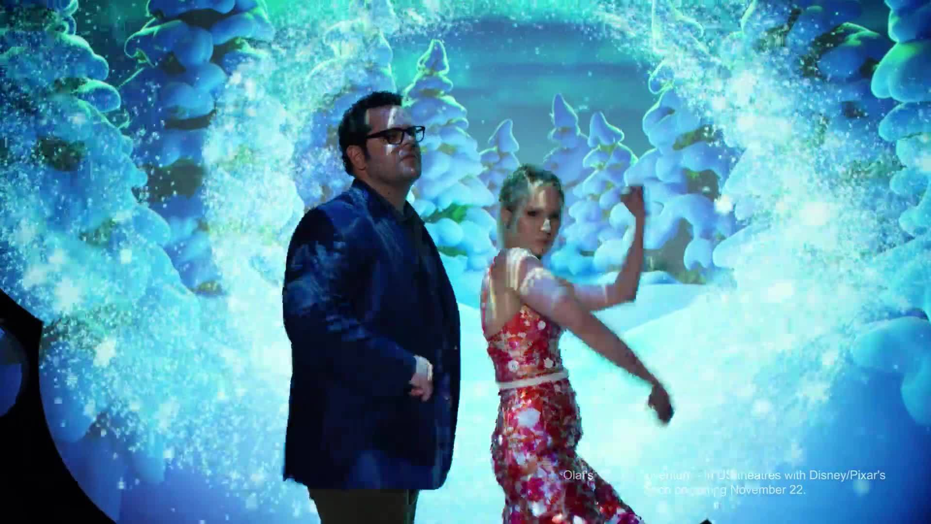 Olaf's Frozen Adventure - Kristen Bell and Josh Gad | D23 Expo