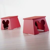 Mickey mouse cheers for ears stool by ethan allen shopdisney - Mickey mouse stool ...