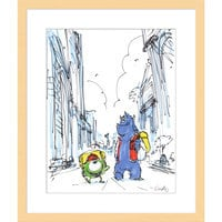 ''Mike and Sulley'' Framed Giclée on Paper by Ricky Nierva - Limited Edition