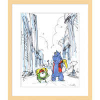 Image of ''Mike and Sulley'' Framed Giclée on Paper by Ricky Nierva - Limited Edition # 1