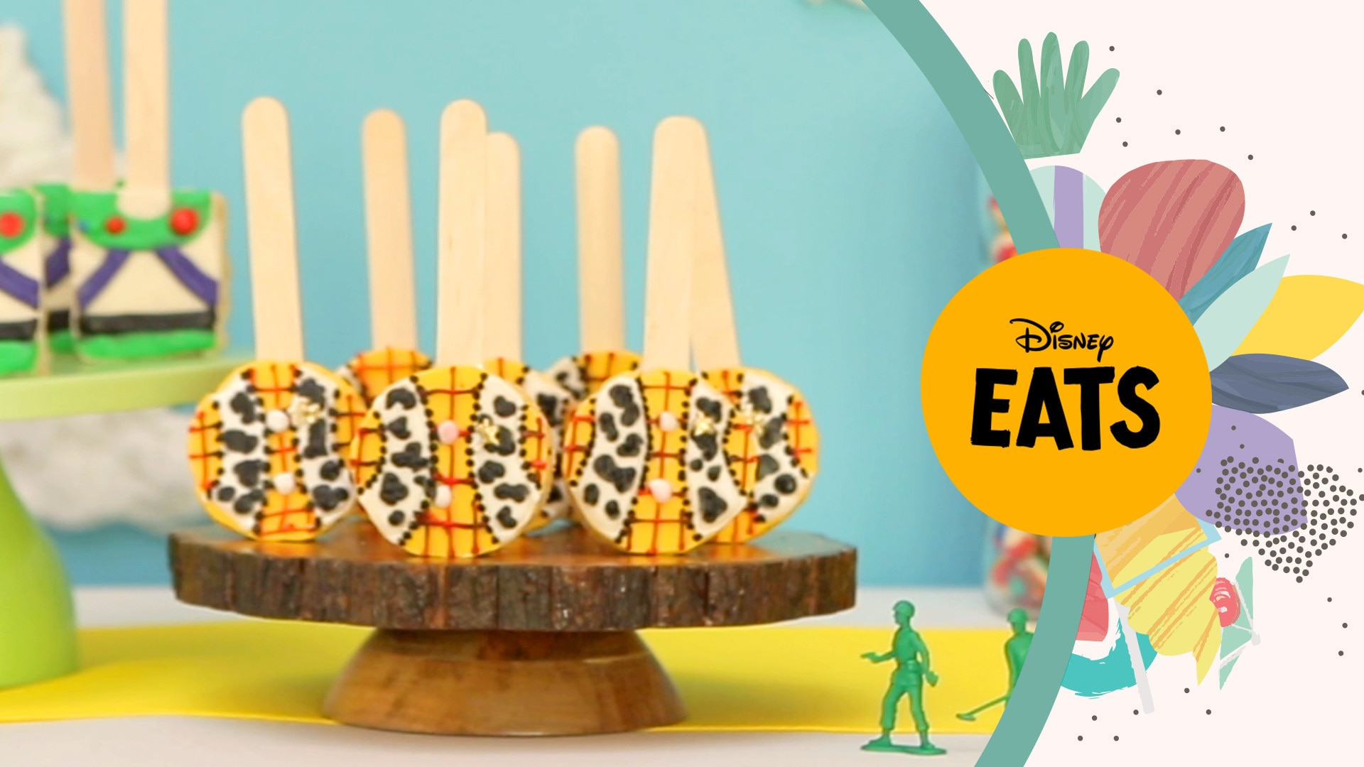 Toy Story's Buzz and Woody Rice Crispy Pops | Disney Eats