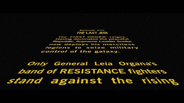 Star Wars Episode Viii The Last Jedi Opening Crawl Starwars Com