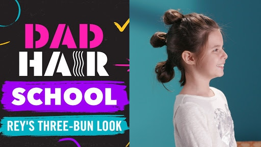 Rey's Three-Bun Star Wars Look   Dad Hair School