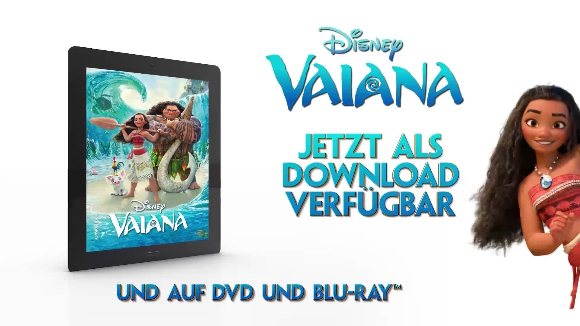 Vaiana - Auf DVD, Blu-Ray, 3D Blu-Ray & als digitaler Download