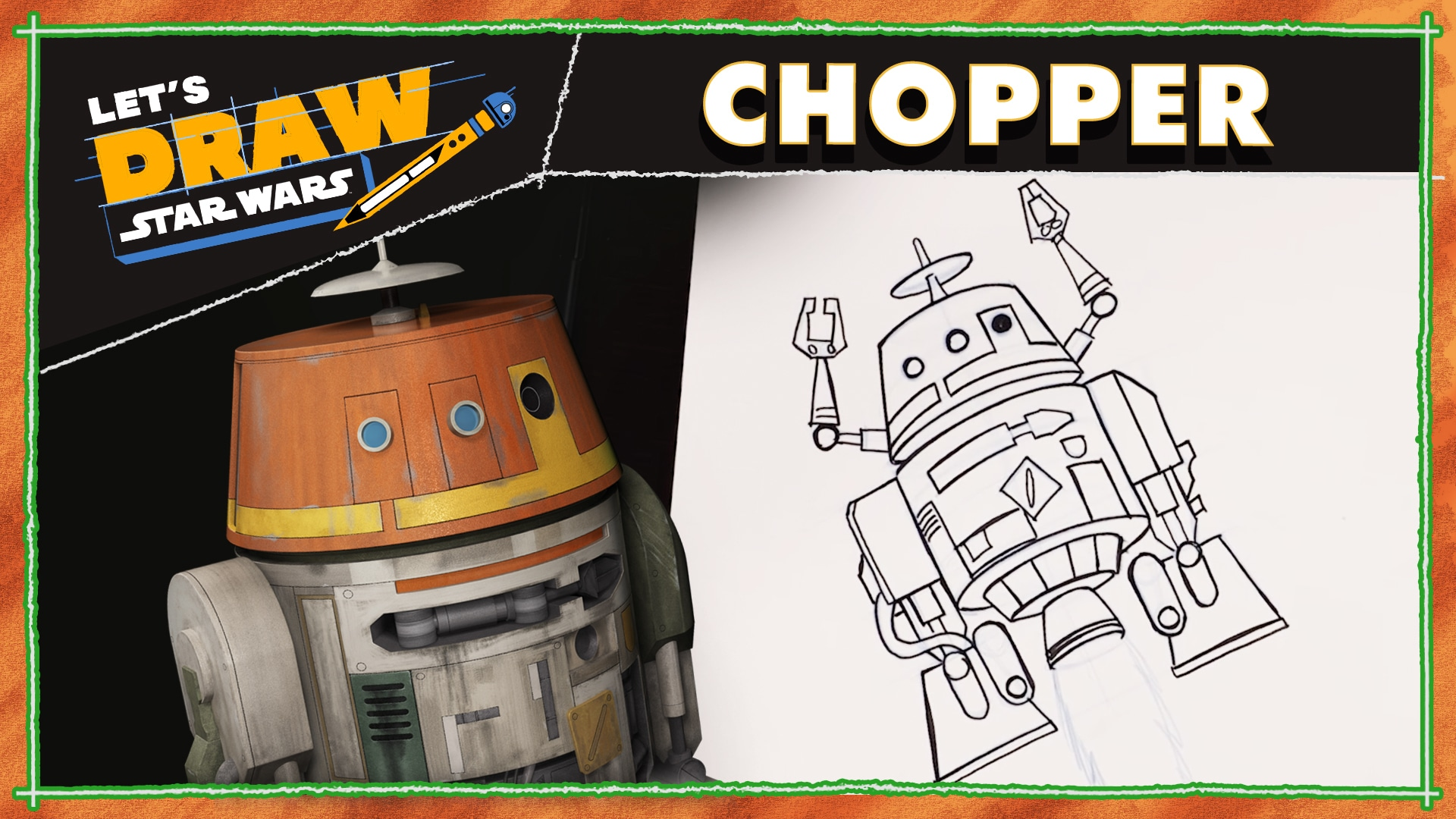 How to Draw Chopper from Star Wars Rebels! | Let's Draw Star Wars