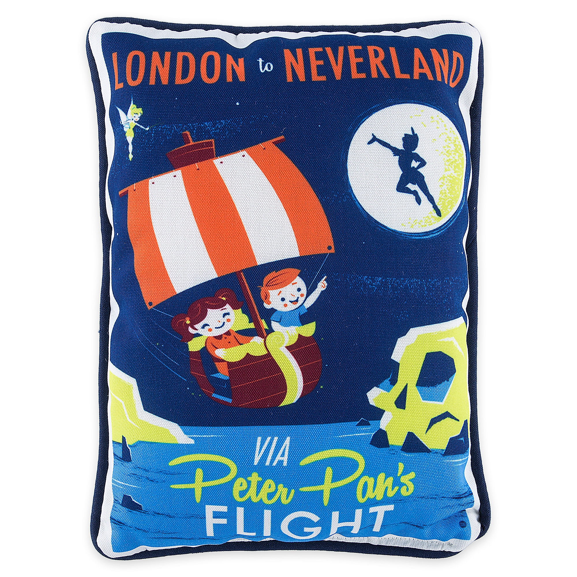 Peter Pan's Flight Retro Pillow