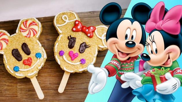 Mickey & Minnie Gingerbread Crispy Treats | Disney Family