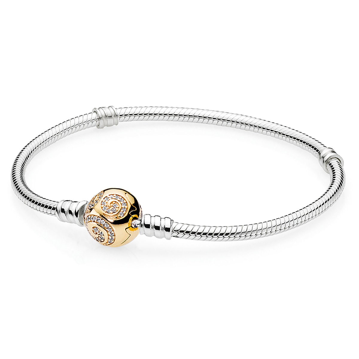 aace32ca2 Product Image of Mickey Mouse Golden Swirl Bracelet by Pandora Jewelry # 1