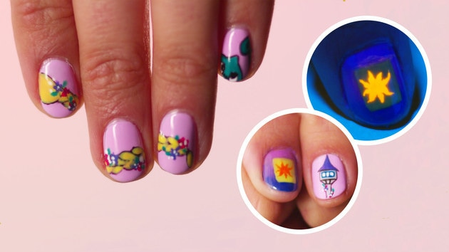Tangled Nail Art, 3 Ways | TIPS by Disney Style