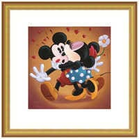 Image of ''Mickey and Minnie Kissing'' Giclée by Michelle St.Laurent # 4