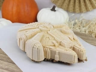 Pumpkin Spiced Millennium Falcon Ice Cream Dessert